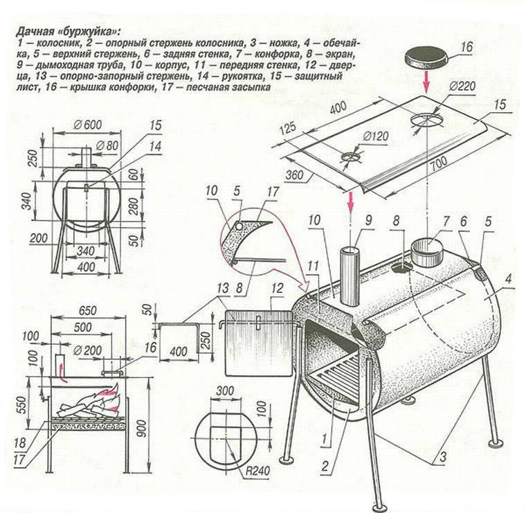 Печь своими руками из металла - 95 фото-идей как самостоятельно построить качественную печь