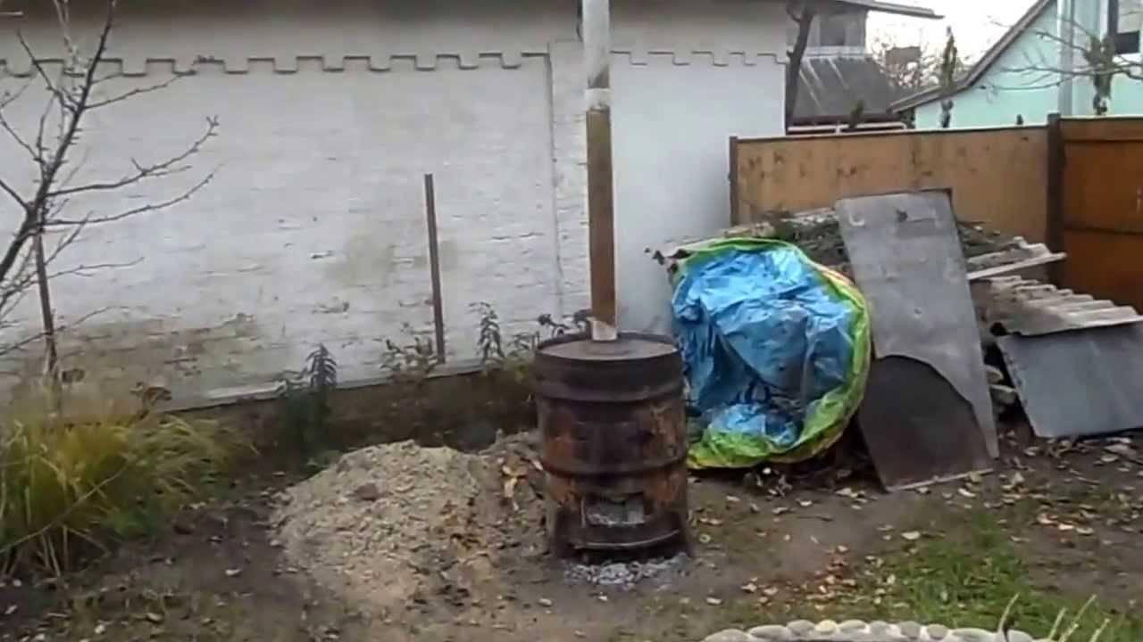 Как сделать бочку для сжигания мусора своими руками ( 35 фото + 1 гиф )