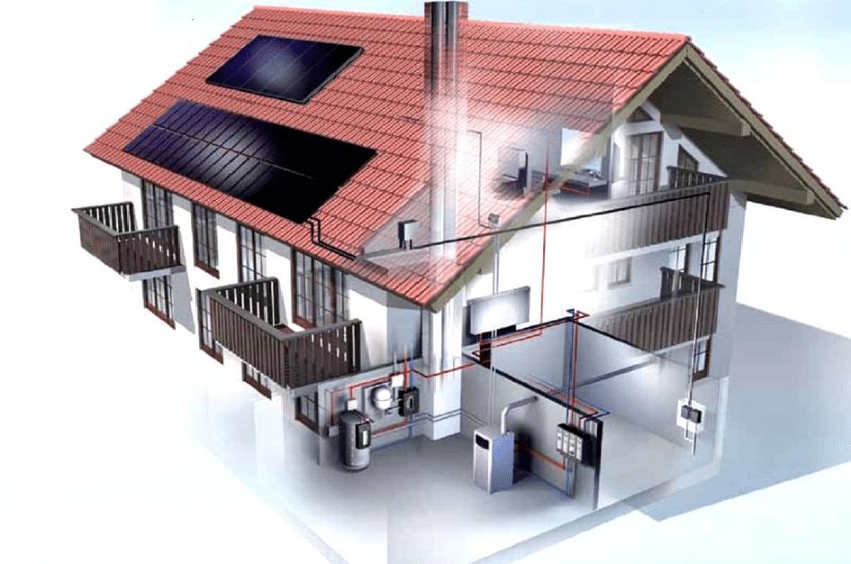 Системы отопления частного дома - фото и схемы