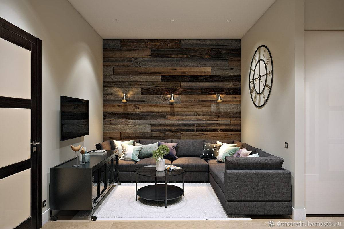 Лофт-стиль в дизайне большой или маленькой гостиной комнаты