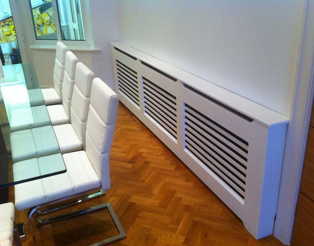 Экраны на батареи отопления. декоративные решетки на радиаторы отопления: виды, обзор цен и установка своими руками
