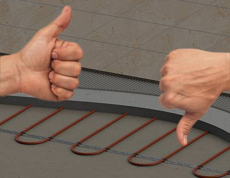 Как выбрать электрические теплые полы
