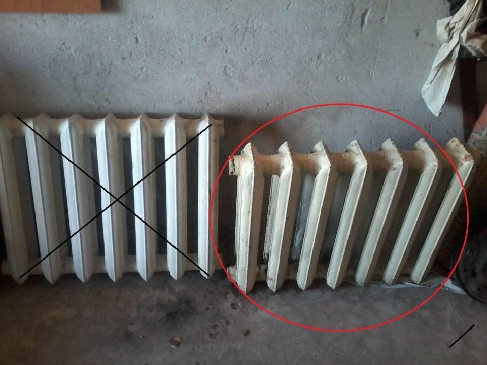 Как разобрать чугунный радиатор отопления?