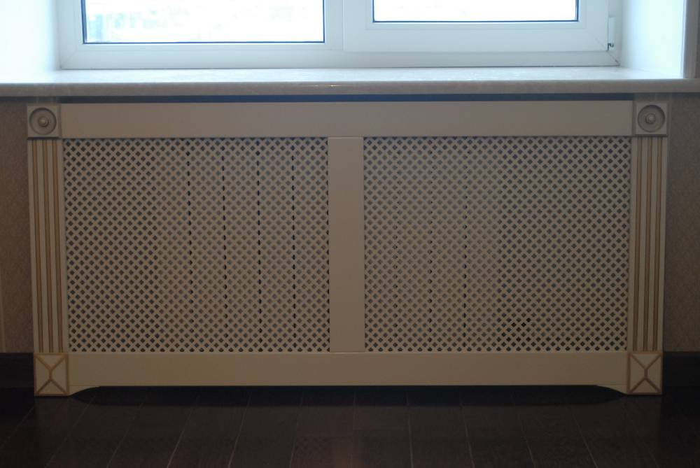 Декоративные экраны для батарей отопления, металлические, деревянные, защитные, фото