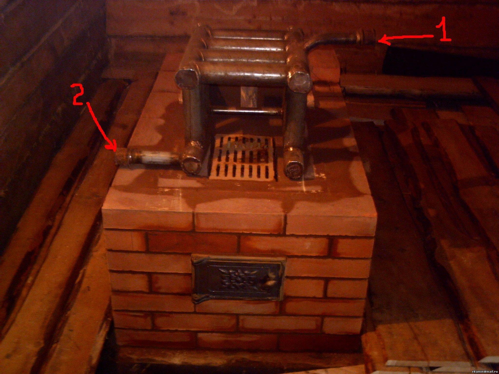 Водяное отопление в доме от дровяной печи