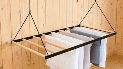 Сушилка для одежды: как изготовить своими руками, самодельные потолочные и напольные сушилки для белья, фото