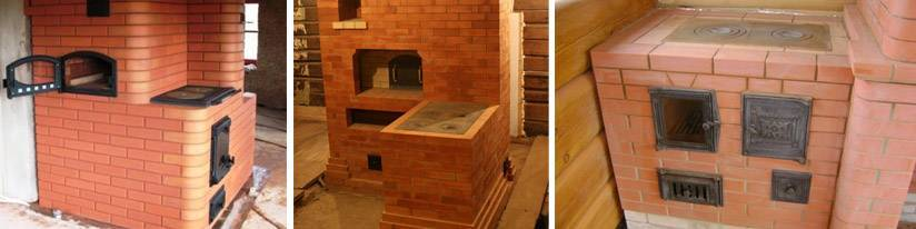 Русский стиль планировка дома размером 6×6 м с печкой