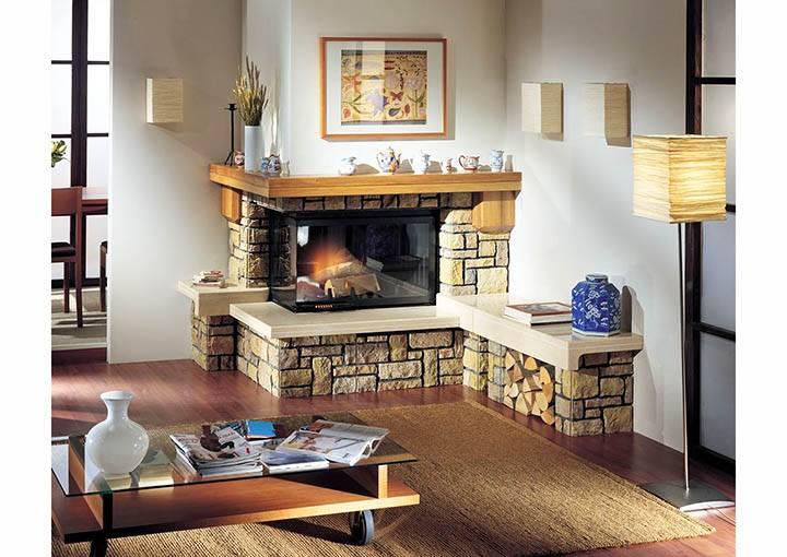 Камины в частном доме (100 фото): дизайн в интерьере каркасных домов и домов из бруса, отделка каминов в деревянном доме и их размеры