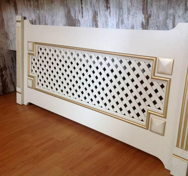 Решетки радиатора (78 фото): декоративные экраны на батарею отопления, радиаторные вентиляционные и защитные накладки, деревянные и стеклянные варианты на чугунную модель