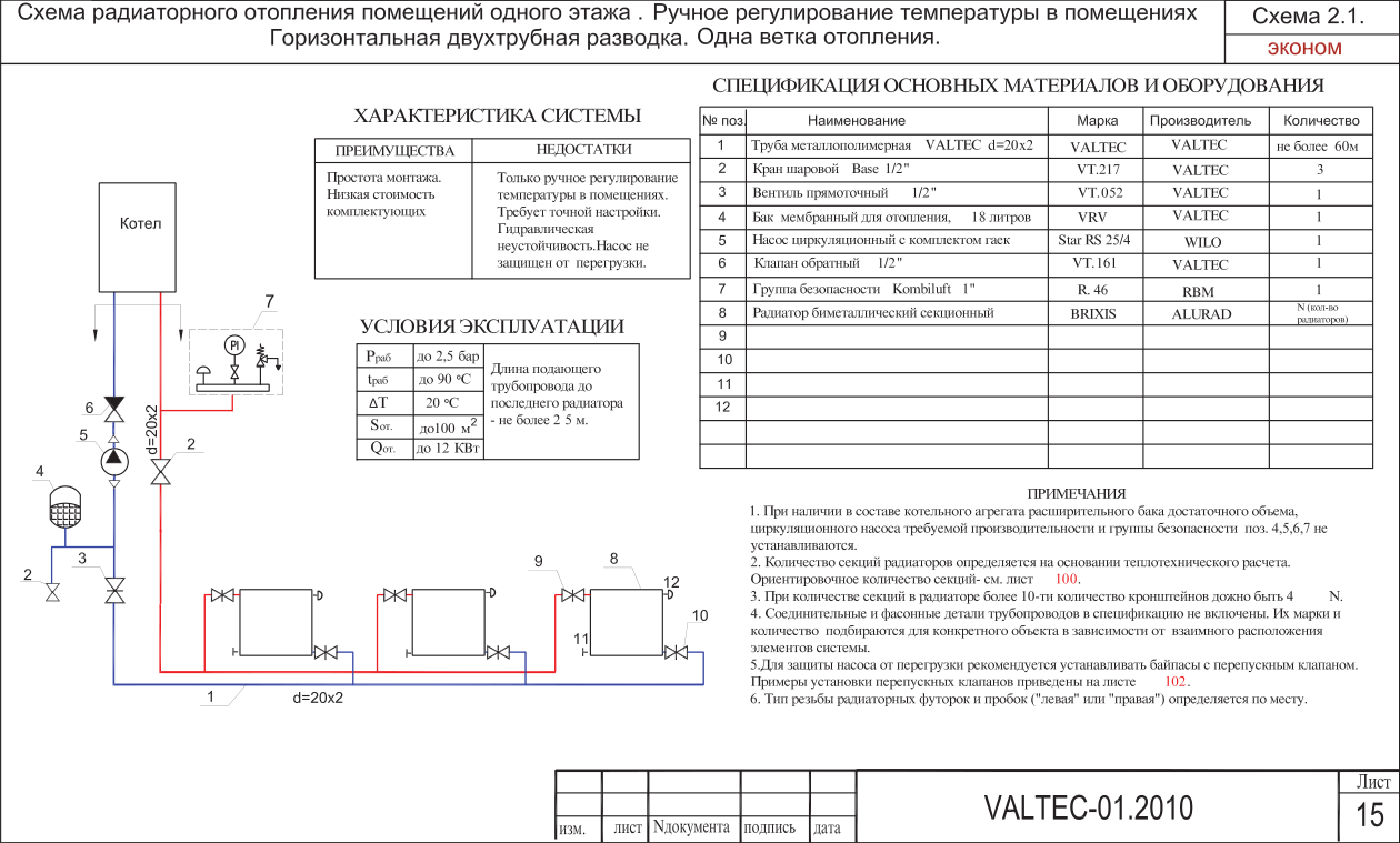 Расчет водяного отопления: формулы, правила, примеры выполнения