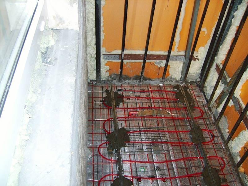 Как самостоятельно сделать водяной теплый пол на балконе