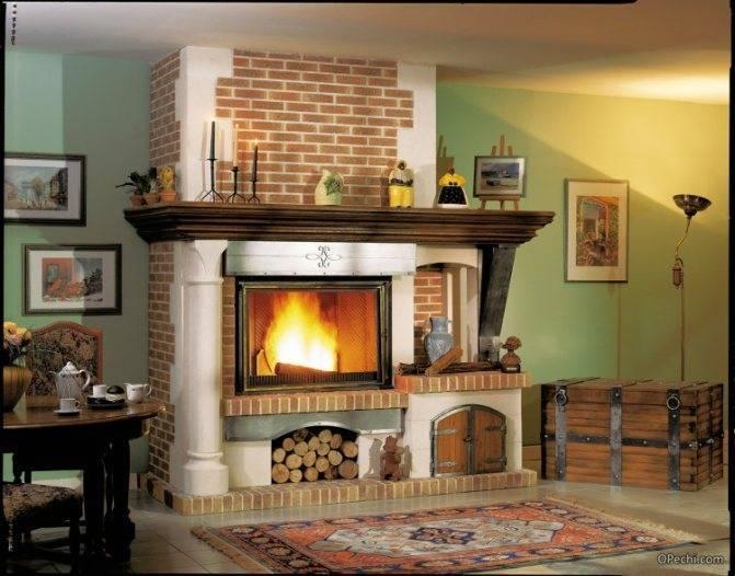 Разновидности и размещение каминов в частном доме