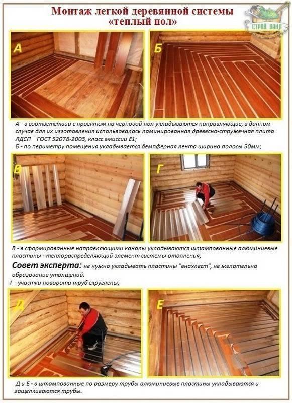 Водяной теплый пол на деревянное основание: проблемы с которыми придется столкнуться и как их обойти