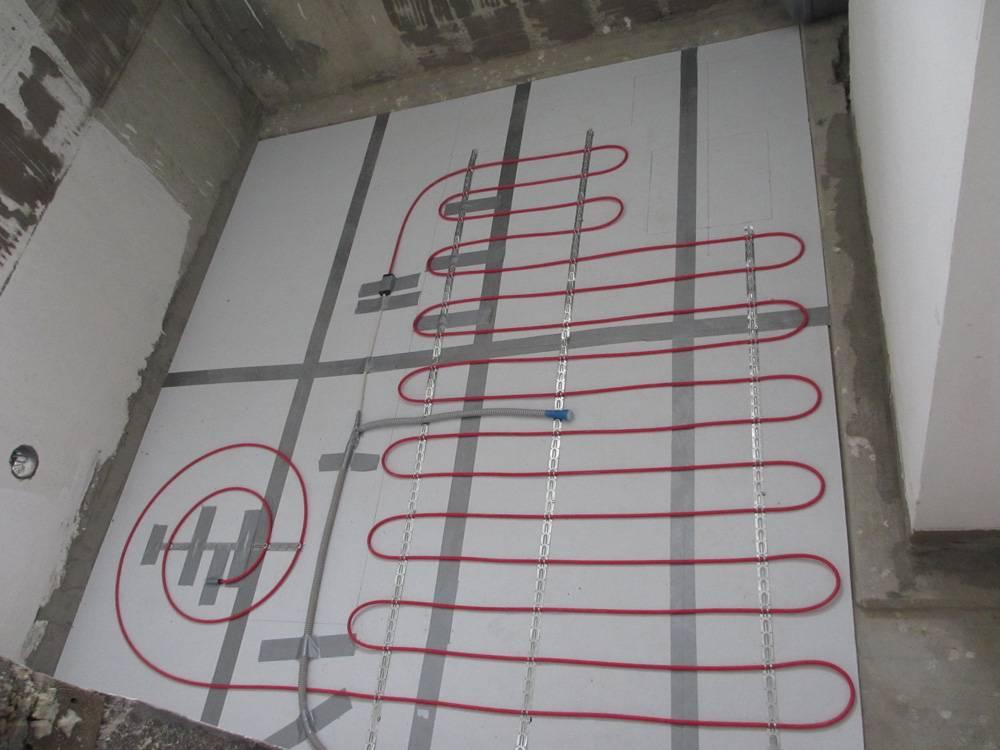Укладка электрических теплых полов под кафельную плитку