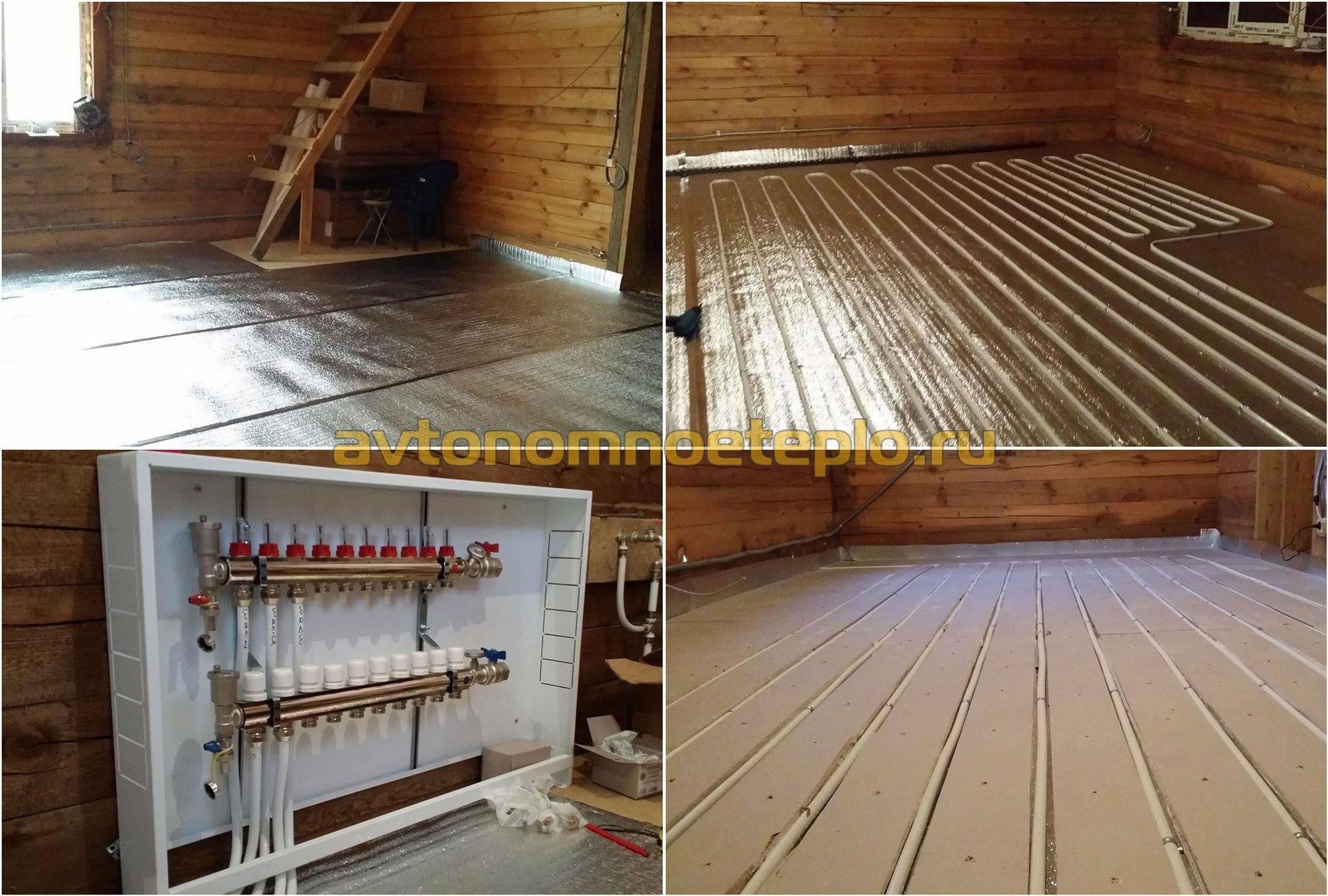 Теплый пол в деревянном доме: как сделать напольное покрытие без стяжки в частном доме и на даче, конструкция с перекрытиями