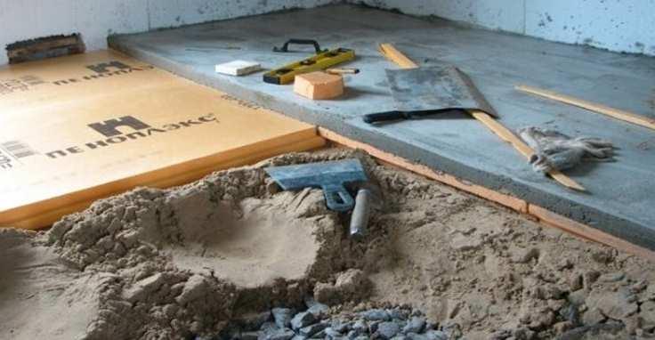 Утепление бетонного пола – как сделать свой дом теплым? + видео