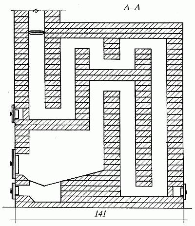 Печь голландка своими руками - инструкция по кладке + порядовка и чертеж