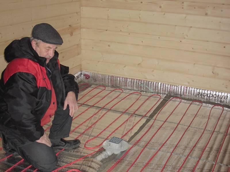 Электрический теплый пол на деревянный пол – варианты обустройства