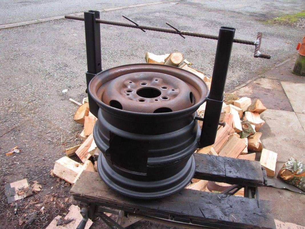Как сделать печку из автомобильных дисков