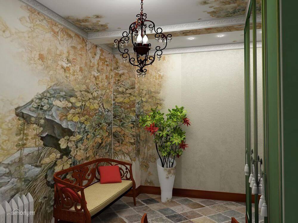 Особенности дизайна комбинированных обоев для коридора: 14 фото с практическими советами по декору