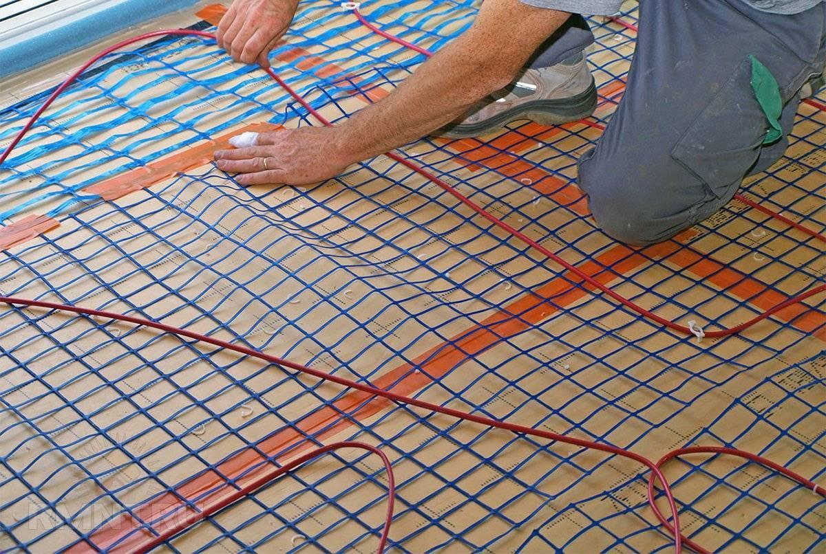 Электрический теплый пол под плитку – технология укладки