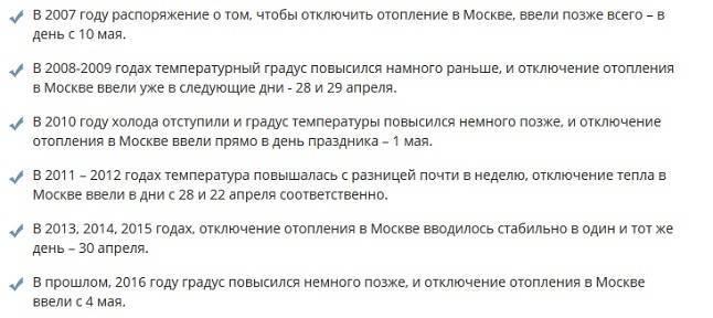 Отопление в москве 2020 когда включат — график по районам и адреса