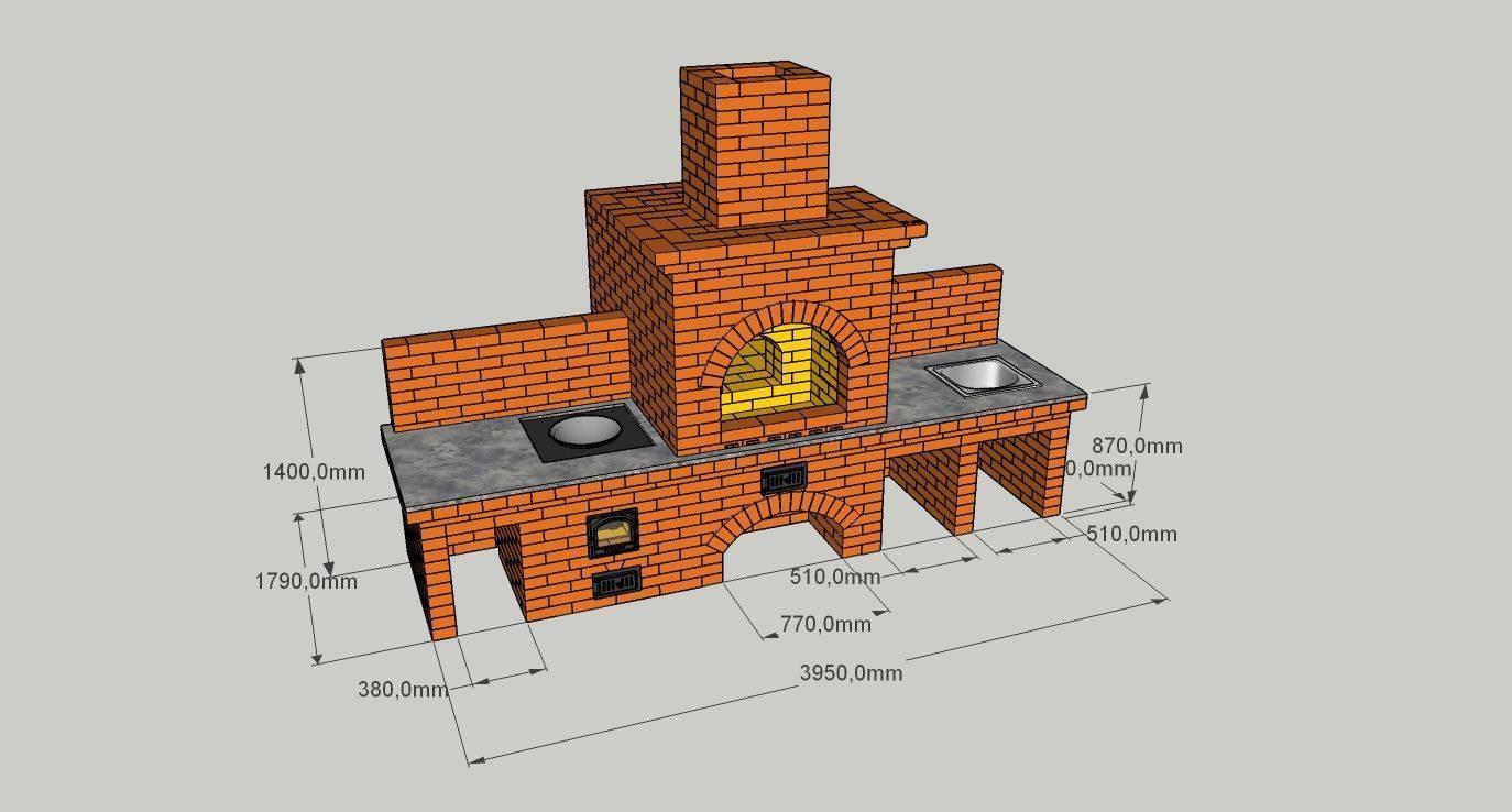 Печь для беседки своими руками: схемы, чертежи, как построить русскую мини печку с камином, фото