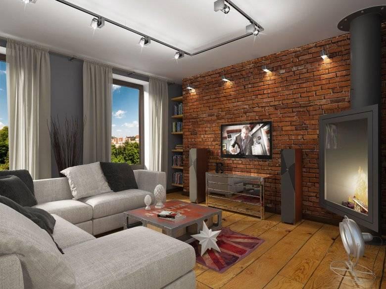 Комфорт и простота: дизайн интерьера гостиной в стиле лофт