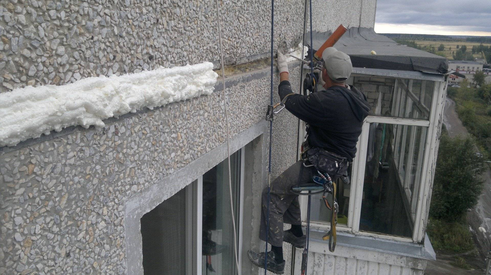 Утепление швов в панельных домах