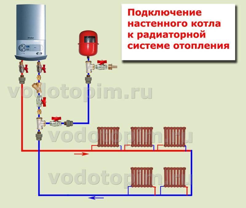 Подключение котла к системе отопления: как правильно подключить отопительный котел, паралельное и последоваельное подключение на фото и видео