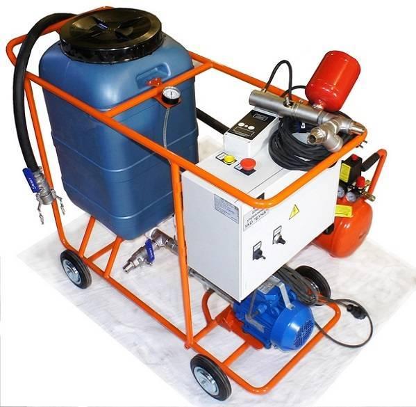 Оборудование для промывки систем отопления: компрессоры