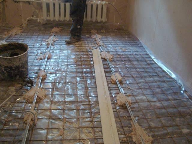 Теплый пол водяной - подготовка основания для укладки