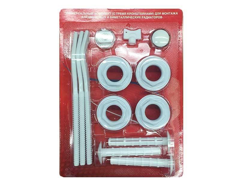 Комплект для радиаторов: выбор, особенности футорок, уплотнительных колец, кранов маевского, заглушек и кронштейнов. биметаллические радиаторы отопления комплект для подключения биметаллического радиатора