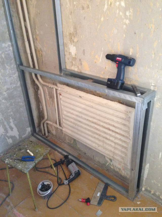 Отделка стен за батареями отопления своими руками