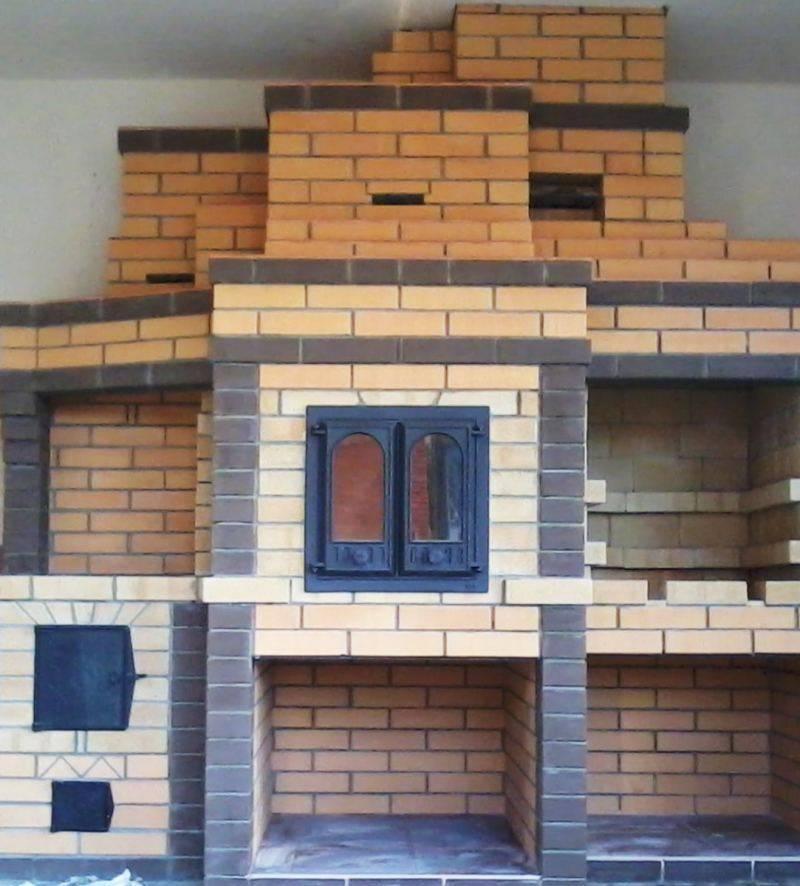 Печь-камин для бани с большим стеклом, на дровах, печь из кирпича, камин своими руками