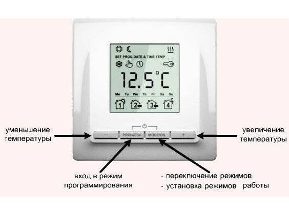 Установка терморегулятора теплого пола: что и как