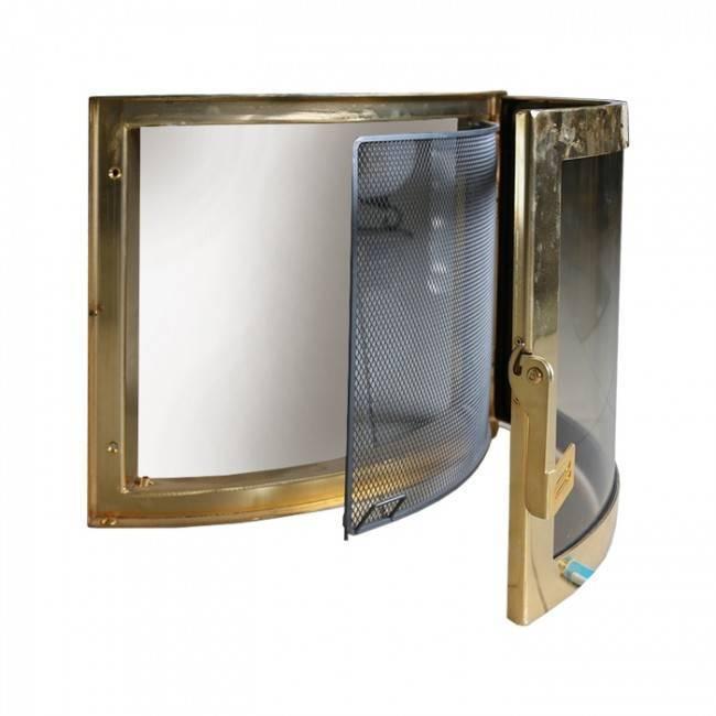 Стеклянная дверь и экран для каминов и печей своими руками
