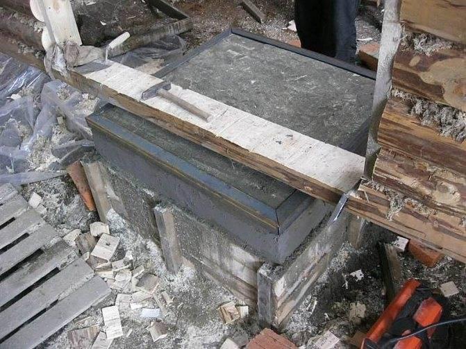 Фундамент своими руками под камин