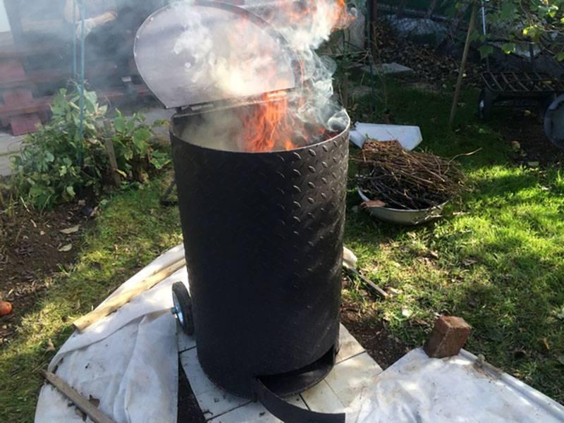 Бочка для сжигания мусора на даче: как сделать печь своими руками