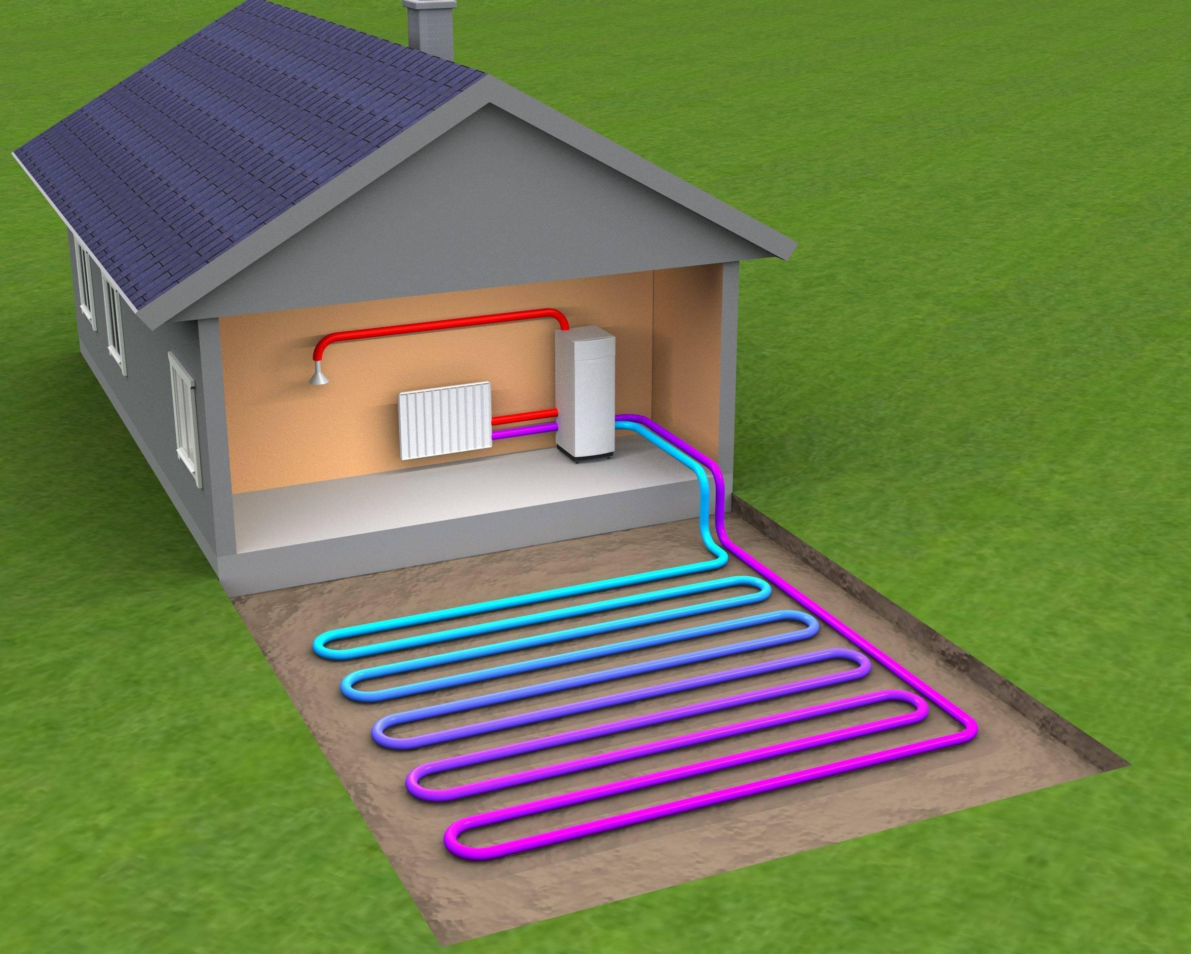 Автономное отопление в частном доме своими руками: без газа, электричеством, схема