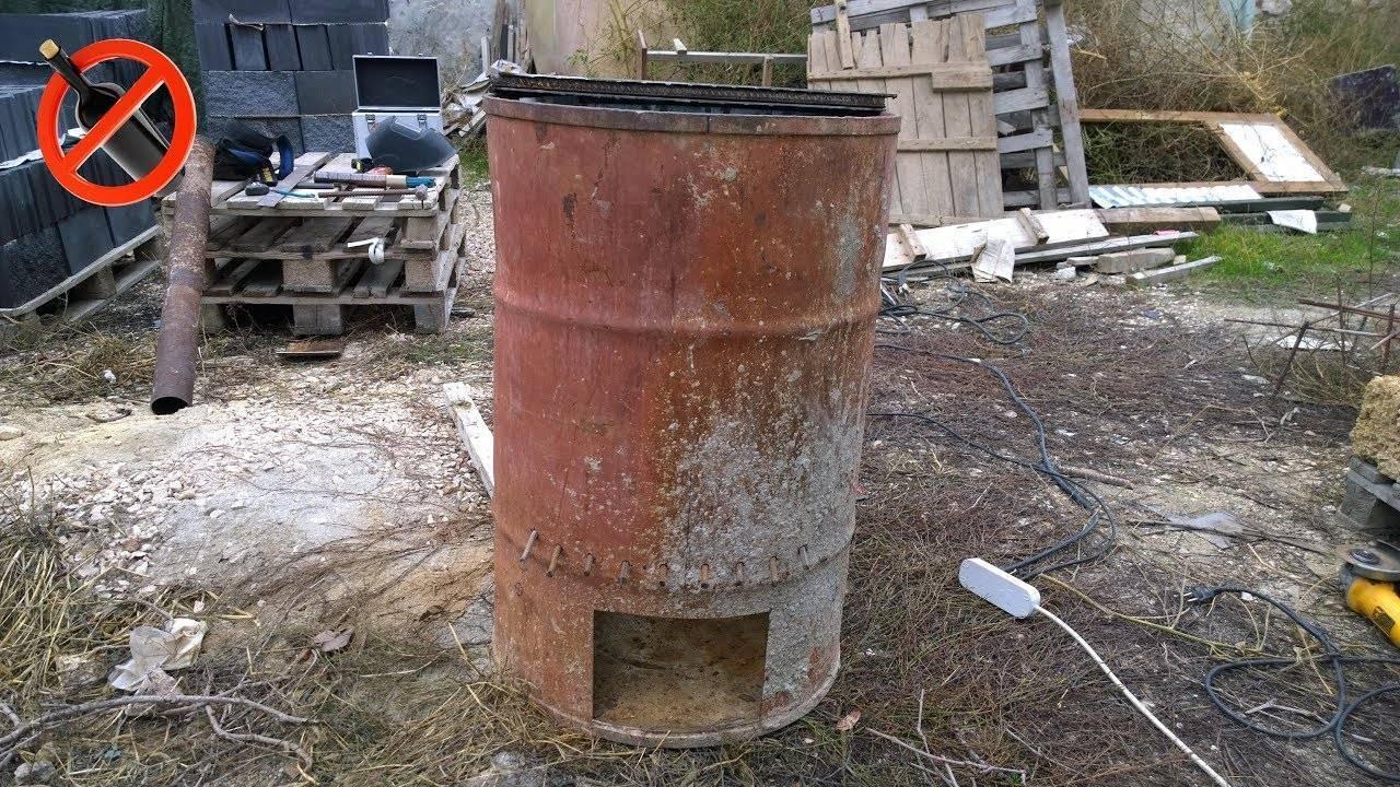 Дачная печь для сжигания отходов и мусора