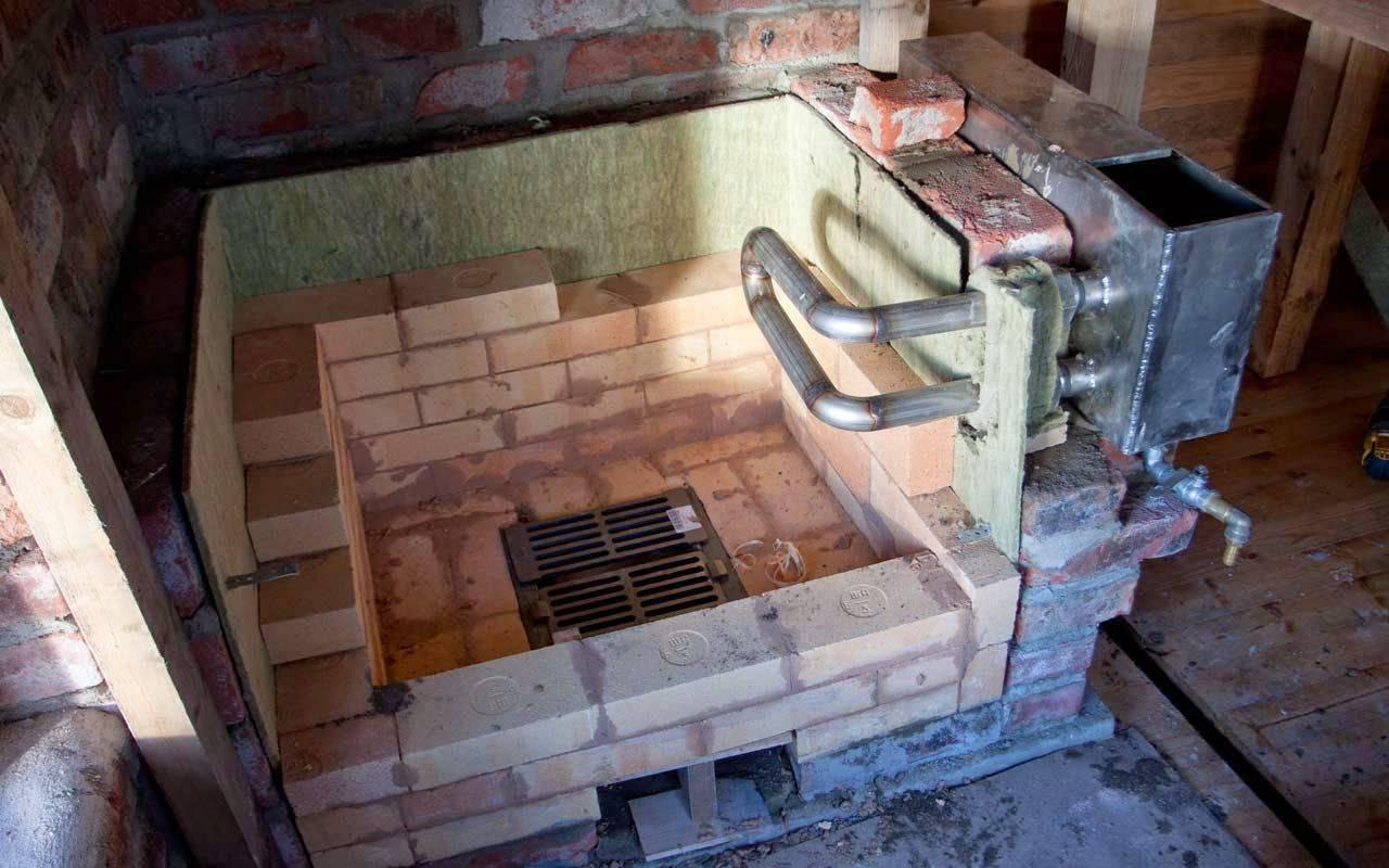Кирпичная печь с водяным контуром