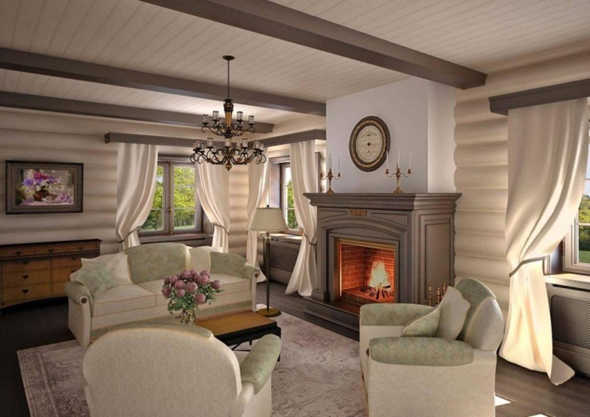 Камин в деревянном доме — пожаробезопасный монтаж
