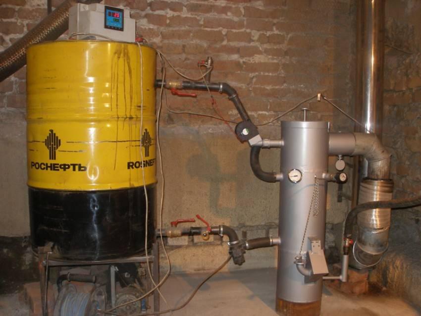 Изготовление котла на отработке с водяным контуром своими руками, принцип работы устройства