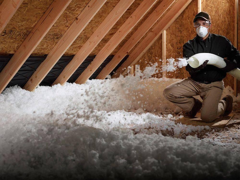 Утепление чердачного перекрытия из дерева или железобетонных плит