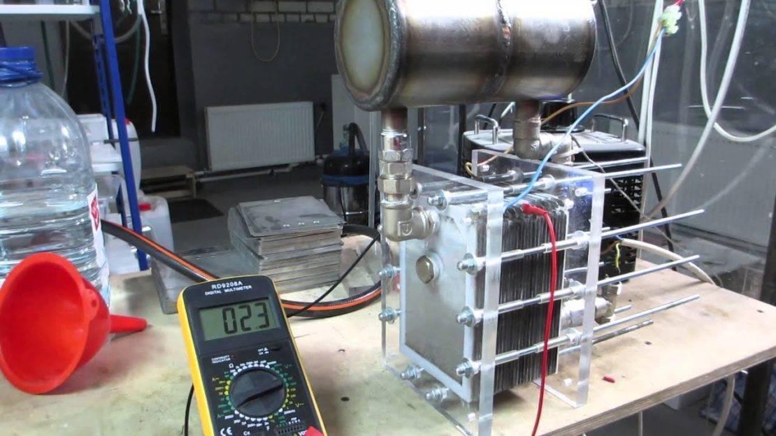 Отопление на водороде дома своими руками: генератор и печь, установка на видео