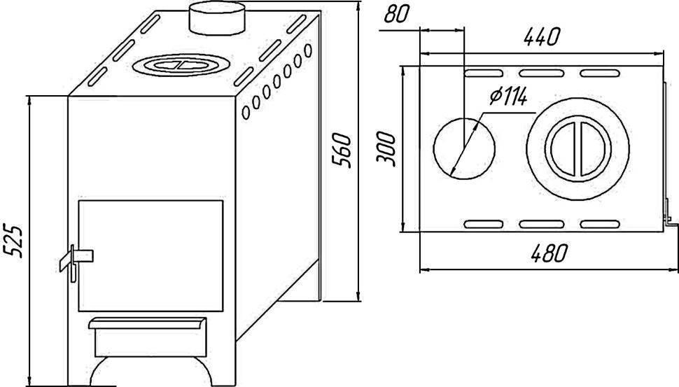 Использование металлических печей для дома