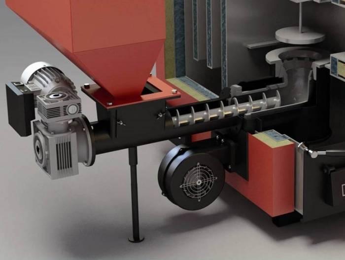 Отопление дома с помощью котла на пеллетах с автоматической подачей