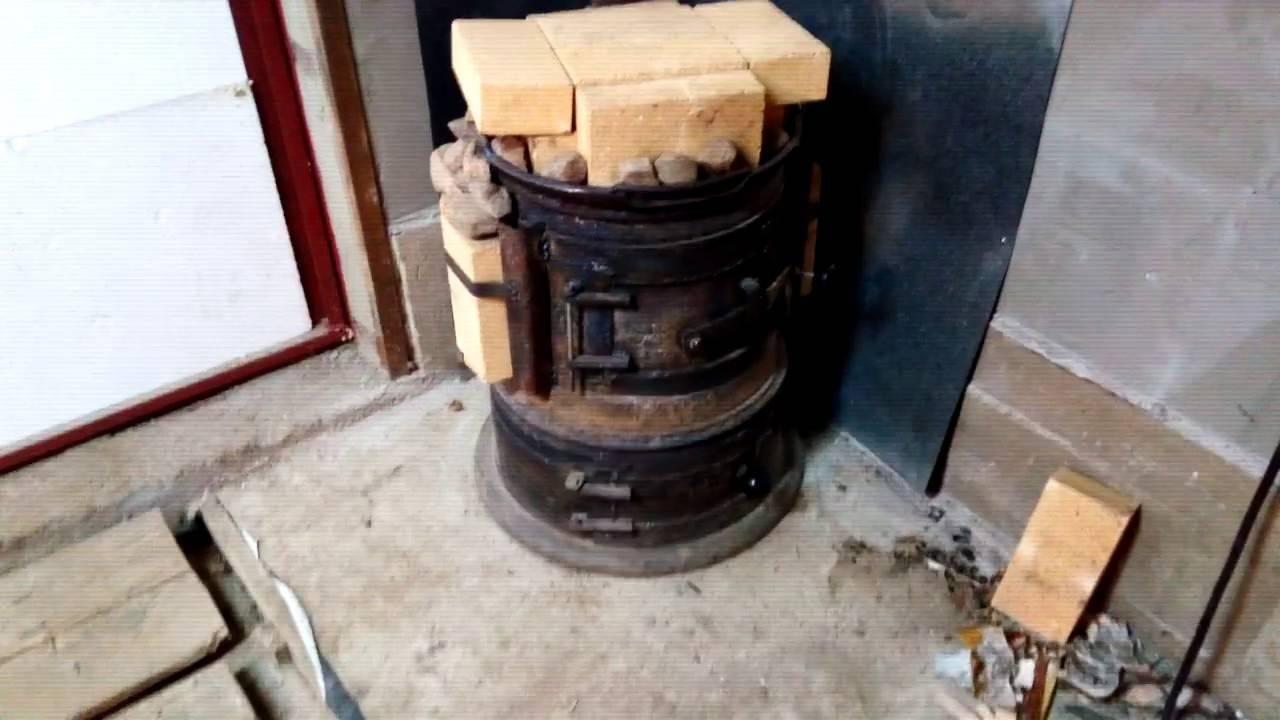Печь для гаража на дровах, отработке – буржуйка в гараж своими руками