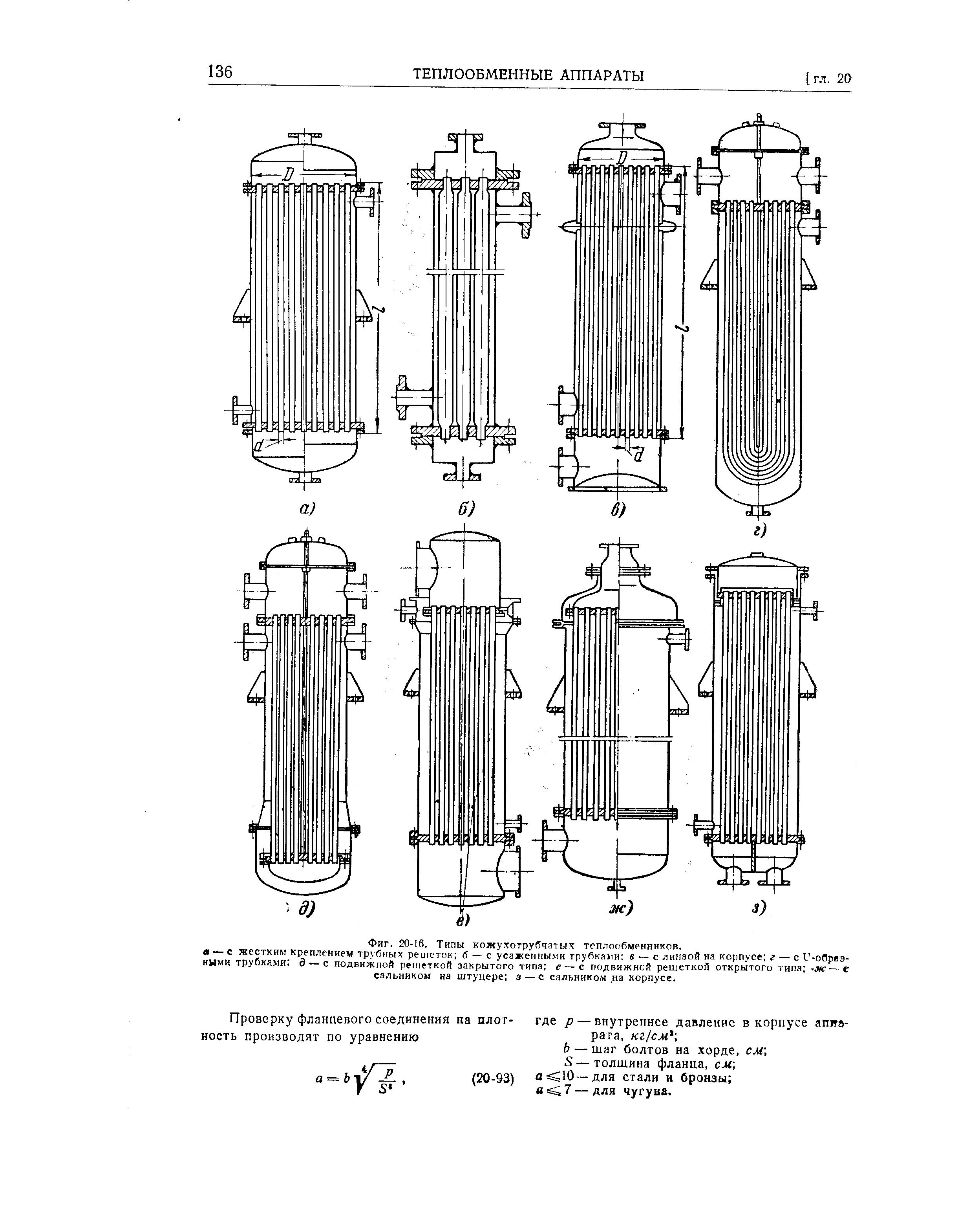Кожухотрубный (кожухотрубчатый) теплообменник: типы, расчёт параметров, характеристики и принцип работы